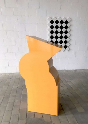 Orange sculpture